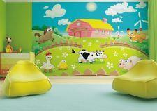 Kinderzimmer wandgestaltung bauernhof  Premium Vliestapete Fototapete Bildtapete Kinderzimmer Tiere ...