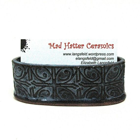 Pottery Business Card Holder.