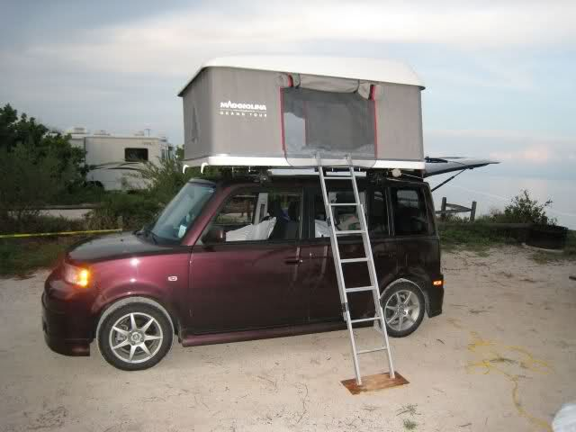 Camping With My Xb And New Rtt Scionlife Com Toyota Scion Xb Scion Xb Truck Tent