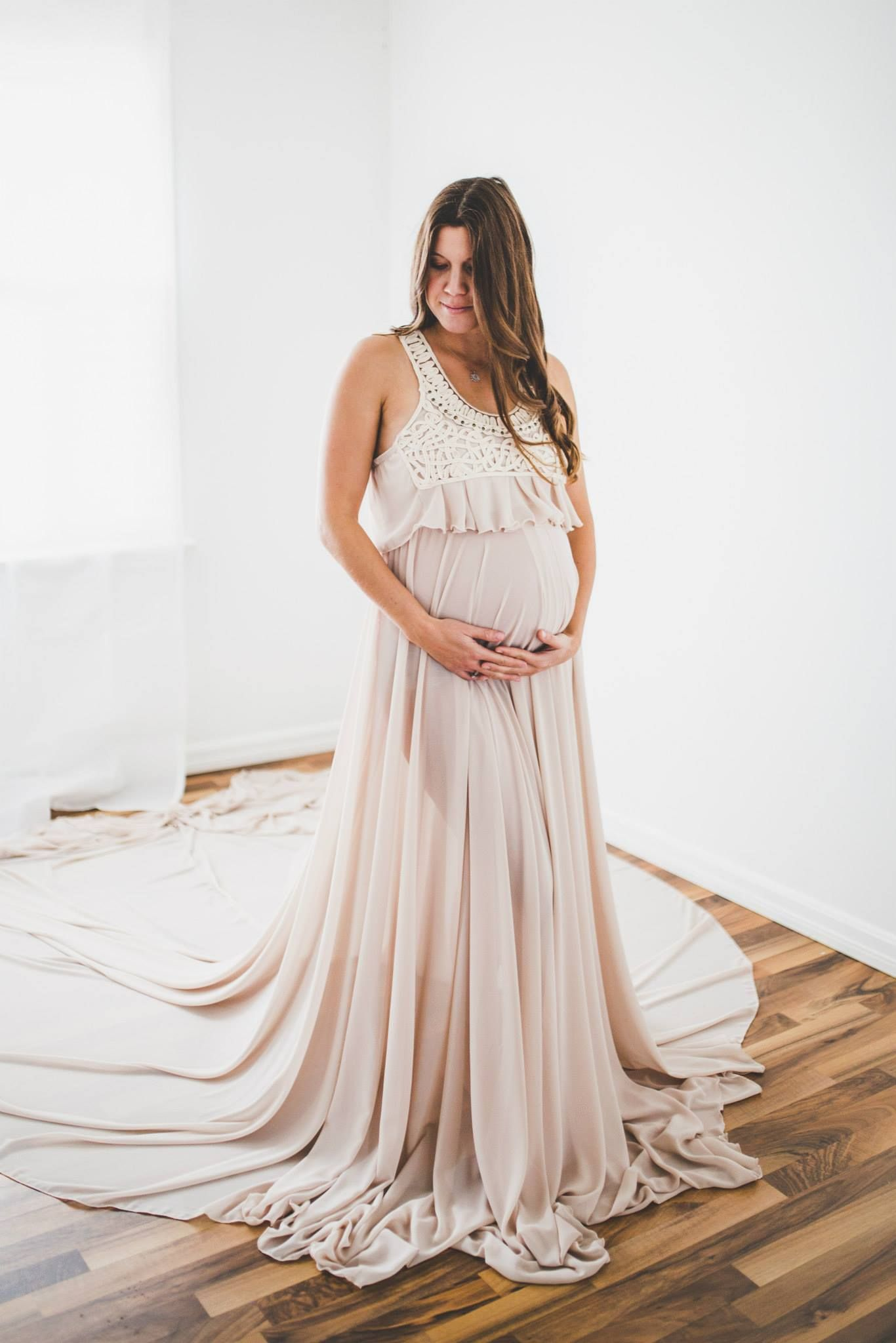 Maternity gown sewing pattern and tutorial by Chelsea Celeste ...