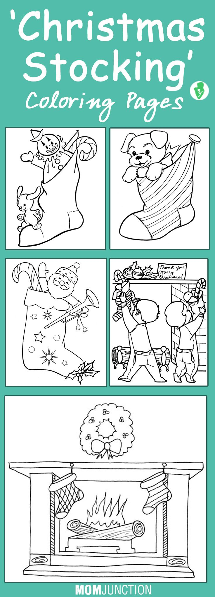 Top 25 Free Printable Christmas Stocking Coloring Pages Online ...