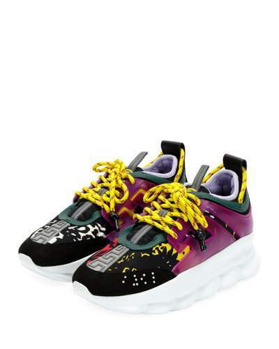 Versace Colorblock Chain Reaction Sneakers | Chaussure sport