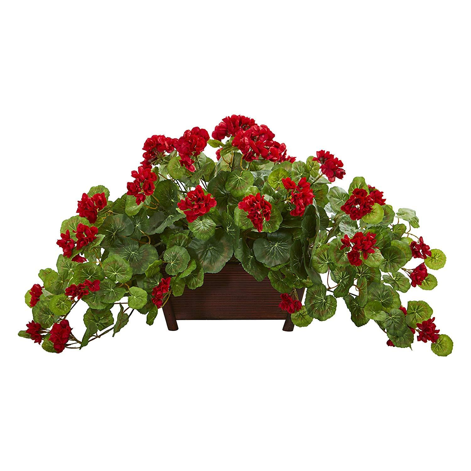 Nearly Natural Geranium Artificial Plant In