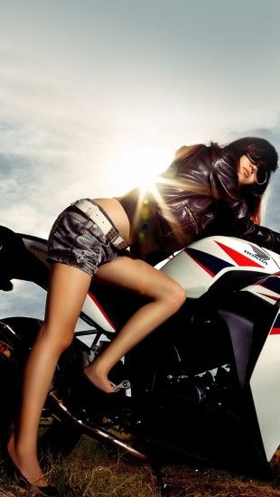 Motorcycle Girl The Iphone Wallpapers Motorcycle Biker Girl