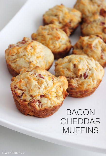 Bacon Cheddar Muffins featured on ourDelicious Dishes Recipe Link Party!  We're dishing on fun back to school recipes this week from This Mama Loves.