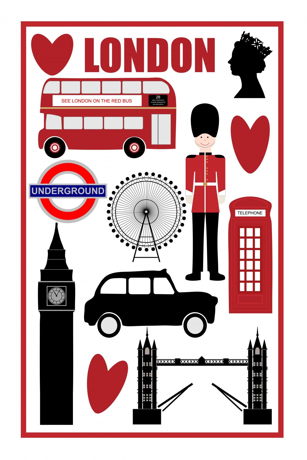 london icons clipart | england | pinterest | london icons, icons and
