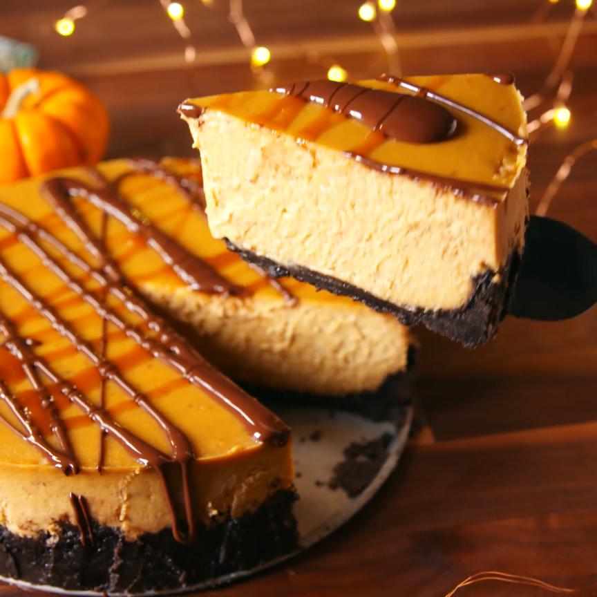 Chocolate Pumpkin Cheesecake Is SO Much Better Tha