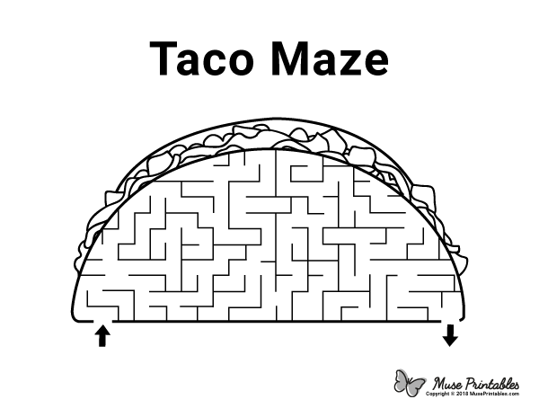 Free printable taco maze. Download the maze and solution