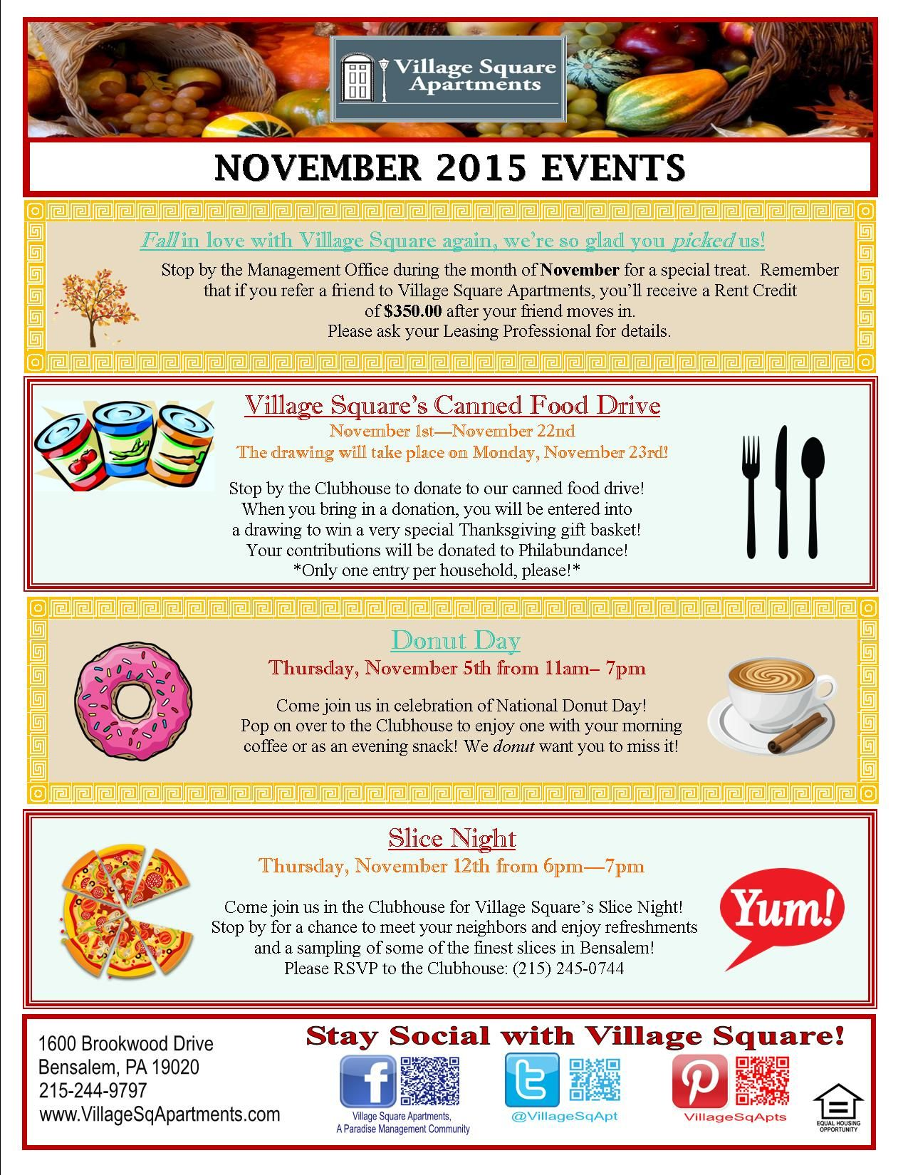 Resident Events Image By Village Square Apartments Apartment
