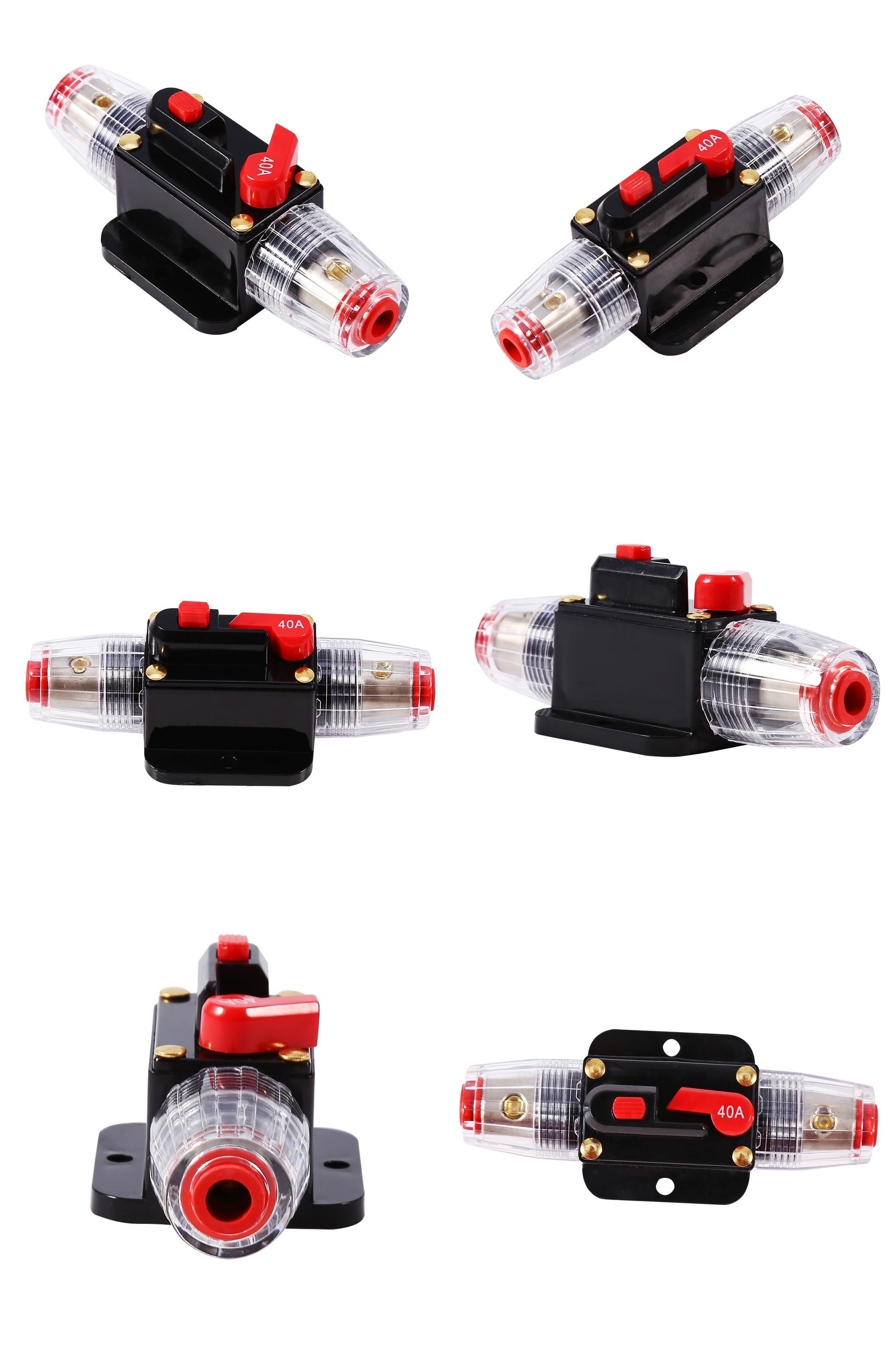 Visit To Buy 12v Dc 40a Circuit Breaker Reset Fuse Resettable Automotive Convenient Easy Use