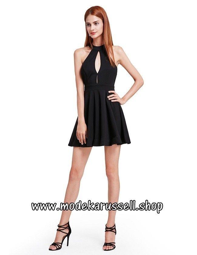 Kleines Schwarzes Kleid mit Träger   Schwarze Kleider   Traumhafte ...