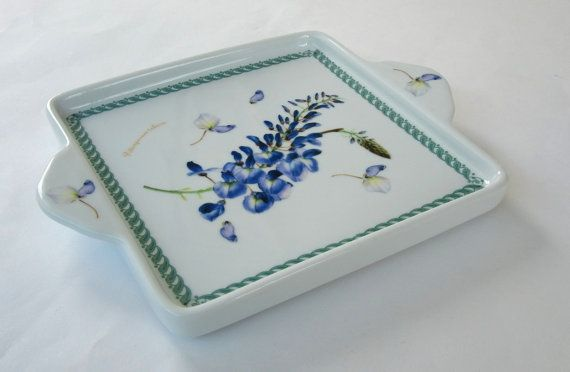 Square Ceramic Serving Plate Serving Platter by FrenchCandy, €12.00