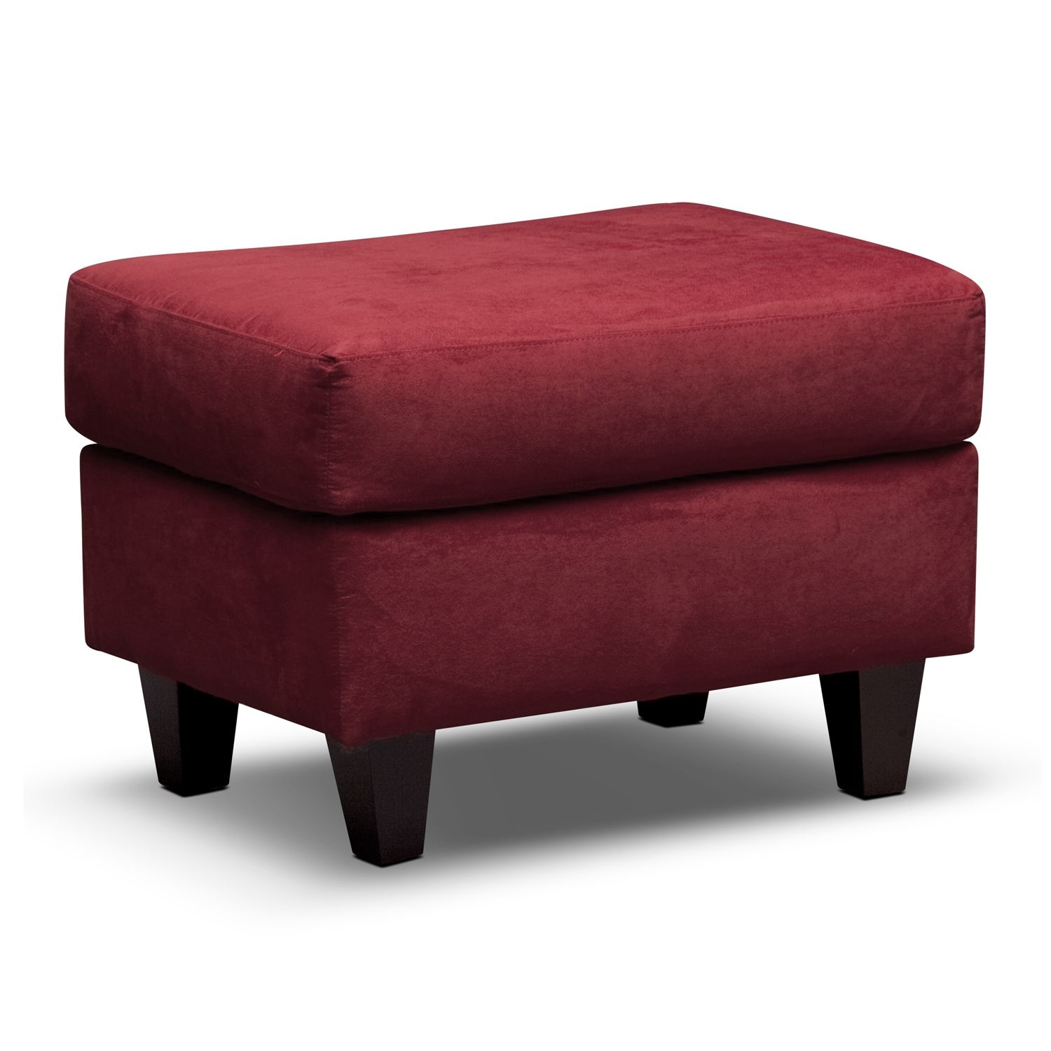 west village red ottoman value city furniture living room area