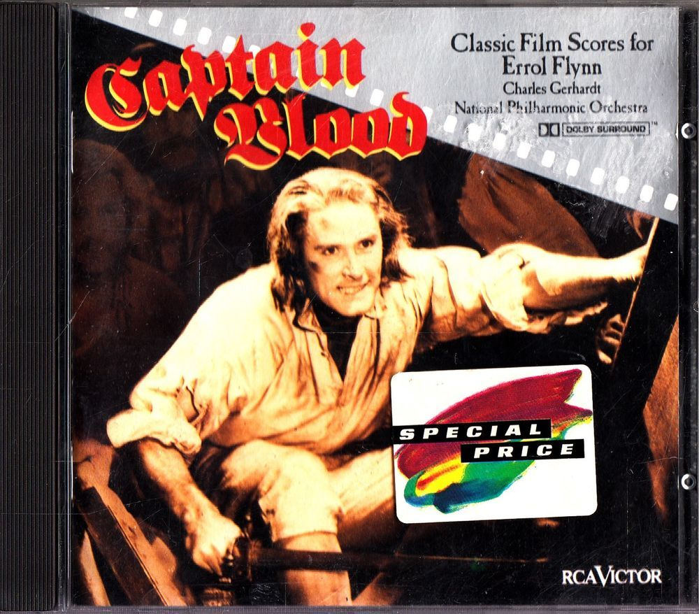 CAPTAIN BLOOD-Classic Film Scores/Soundtrack For Errol Flynn CD-Charles Gerhardt