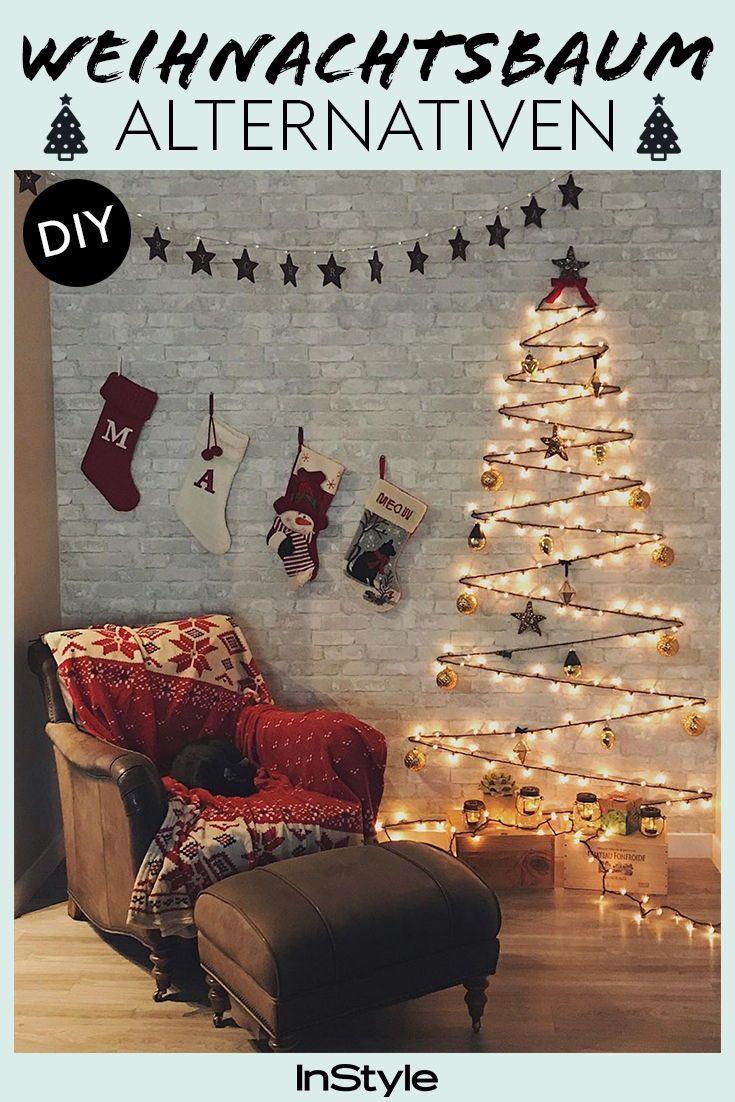 6 Weihnachtsbaum Alternativen zum Selbermachen: Mit diesen DIYs kannst du auf einen traditionellen Weihnachtsbaum verzichten!  #instyle #instylegermany #diy #weihnachtsbaum #christmas #deko