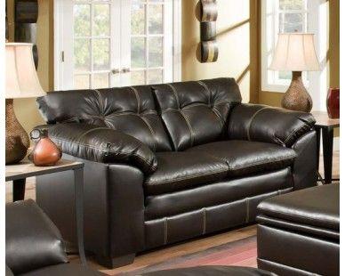Leather Blend Loveseat in Chocolate - Sam Levitz Furniture ...