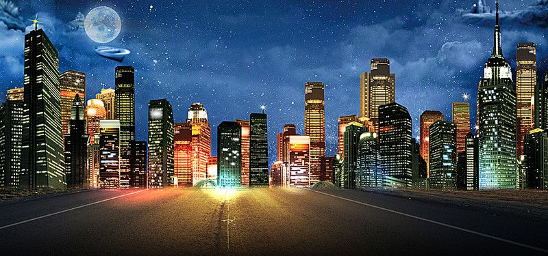 Banner Background City Night 1920x900 Background Images Blue Background Images Background City night background hd images