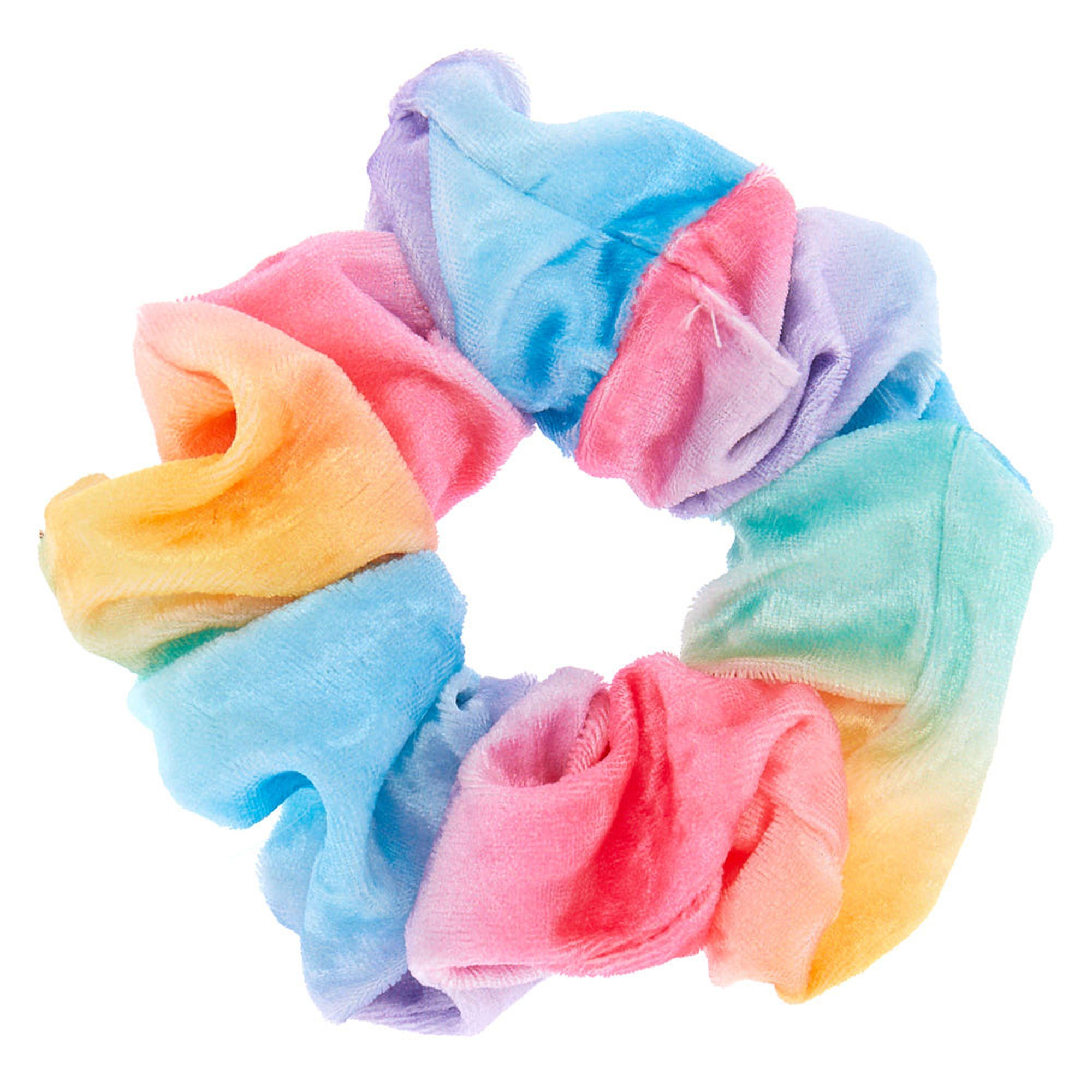 PACK OF 2 RAINBOW HAIR SCRUNCHIES SCRUNCHY TIES ACCESSORY SUMMER TIE BAND NEW