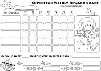 17 Best images about Reward Charts for Kids – Behaviour Chart Template