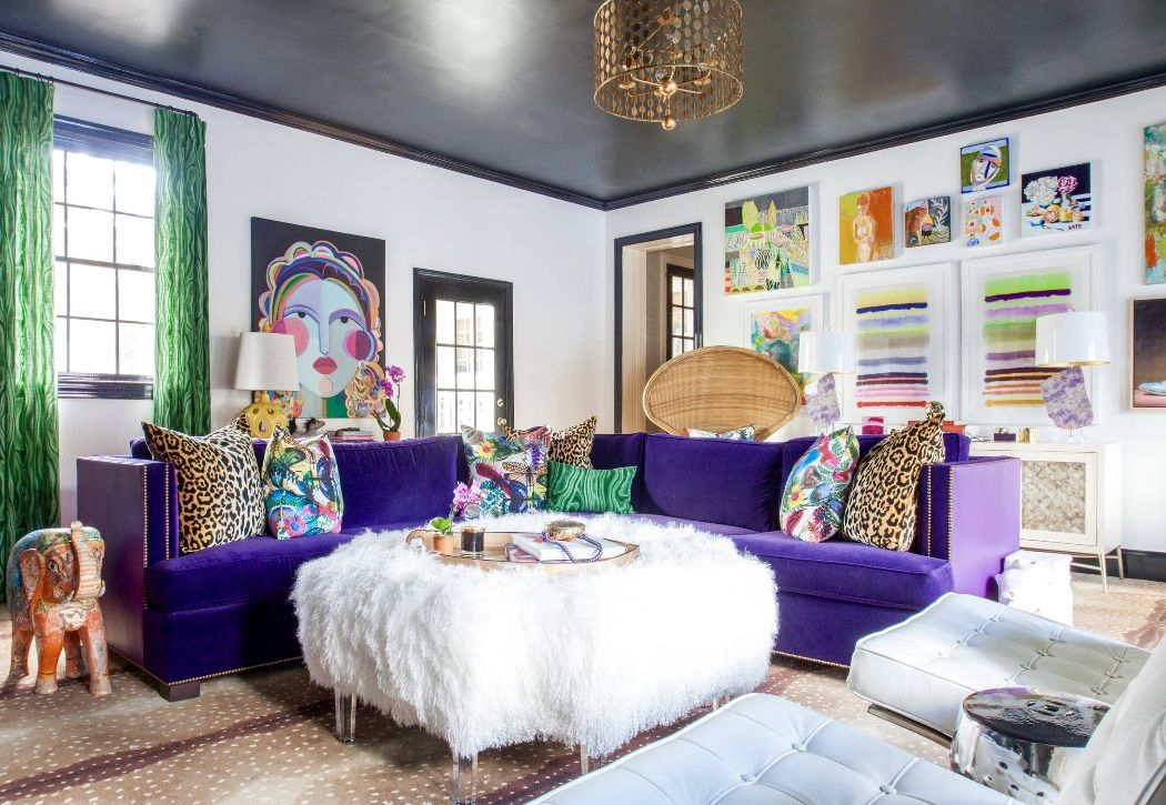 Eclectic Colorful Living Room Decor Colourful Living Room Decor