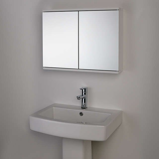 buy optic double mirrored bathroom cabinet mdf from our bathroom cabinets range at john lewis - Bathroom Cabinets John Lewis