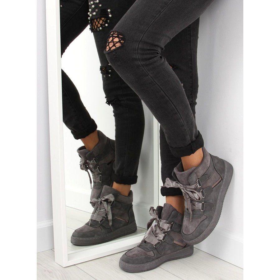 Tenisowki Damskie Obuwiedamskie Trampki Za Kostke Szare Ab 15 Grey Obuwie Damskie Sneakers Black Jeans Armani