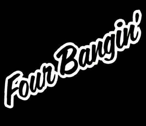 IJDMTOY Four Bangin JDM Cool Stance Nation Sortaflash Dope - Custom vinyl decals for cars jdmdope thumbs up funny jdm custom decal sticker car decals