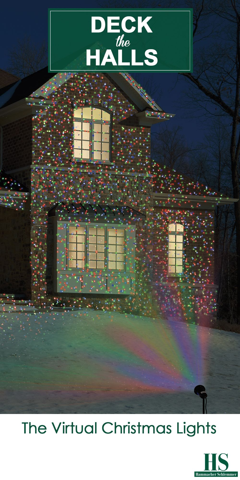 the virtual christmas lights this outdoor projector casts thousands of bulb like dots of colorful light onto a house and landscaping to create festive - Christmas Outdoor Projector