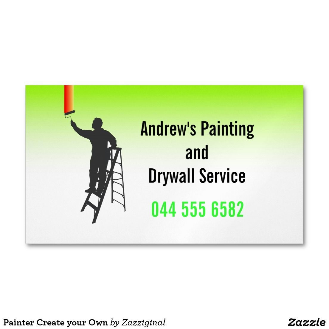 Painter Create your Own Magnetic Business Card | Magnetic business ...