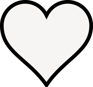 Pin By Brenda Malone On Silhouette Ideas Heart Outline Clip Art Black And White Heart