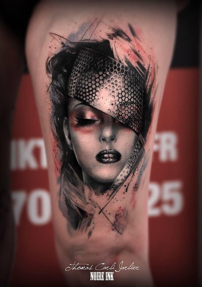 Thomas Carli Jarlier #portrait #tattoo #art