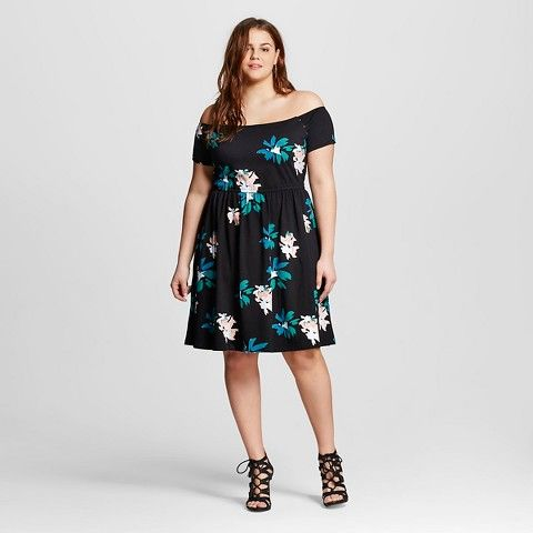 women's plus size knit bardot dress- who what wear™ | my style