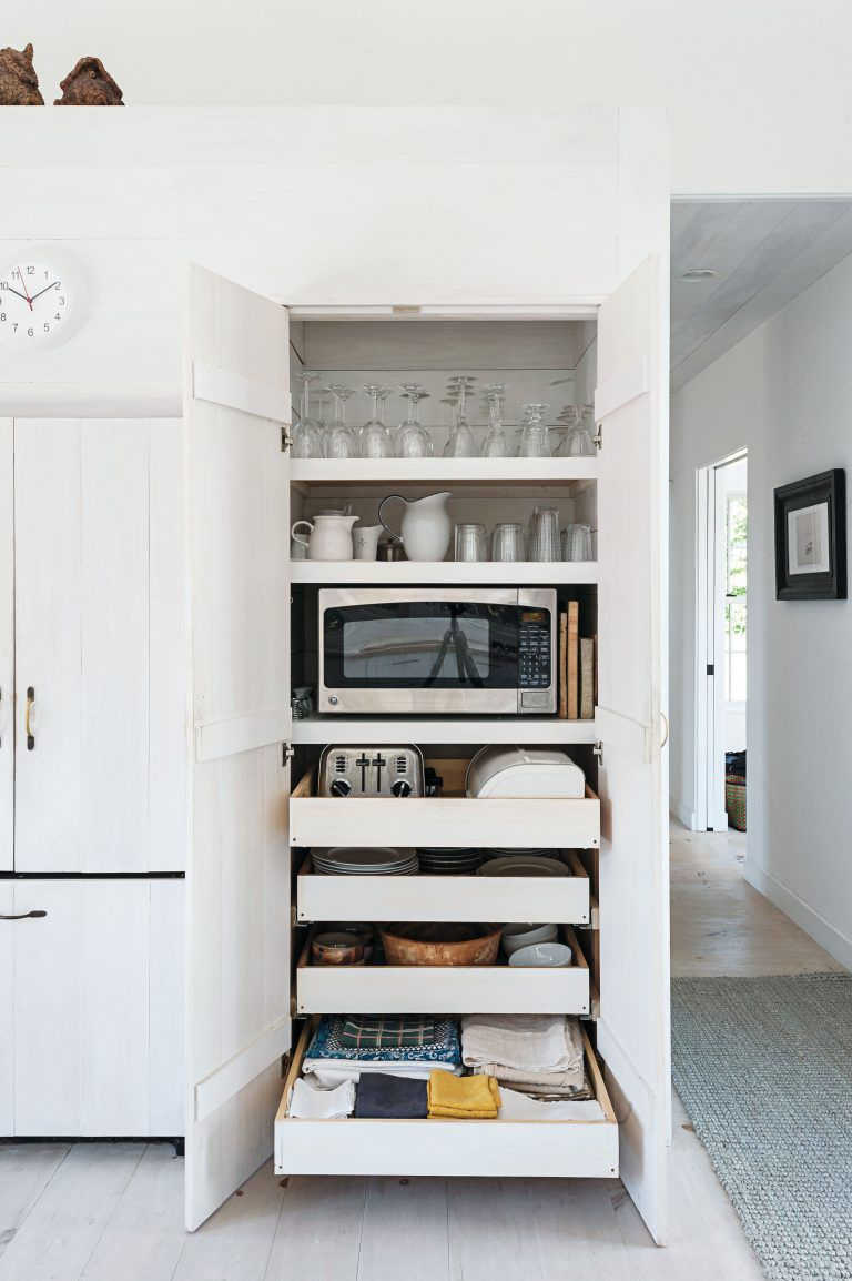 Incroyable Pantry With Microwave Storage