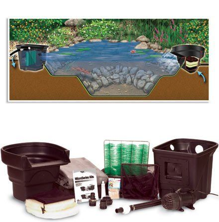 Micropond Kit 8 X 11 1000 Gal By Aquascape 879 98 A Great Pond Kit For The Do It Yourselfer Who Wants A Bigger Pond Kits Water Gardens Pond Backyard Fun