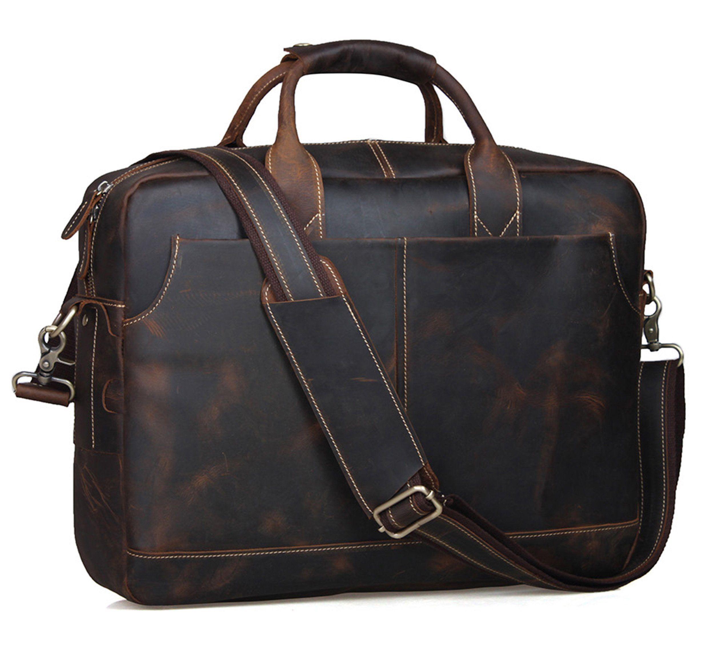 7d4623f3ec22 Vintage Handmade Genuine Leather Briefcase   Messenger   14