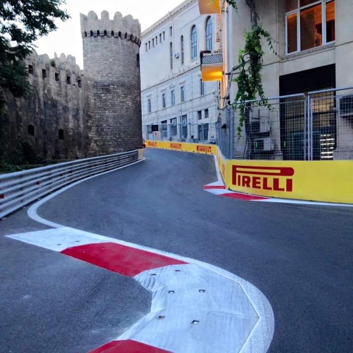 The Castle Corner At Baku City Circuit The Primary Obstacle Of Which Is A Literal Castle Baku City Formula One City