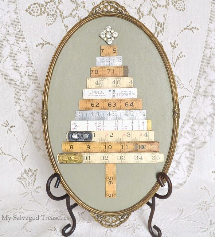 Christmas Tree Life Extender: Repurpose & Upcycle A Vintage Dresser Mirror, An Old Yard