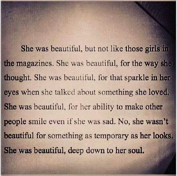 She was beautiful......