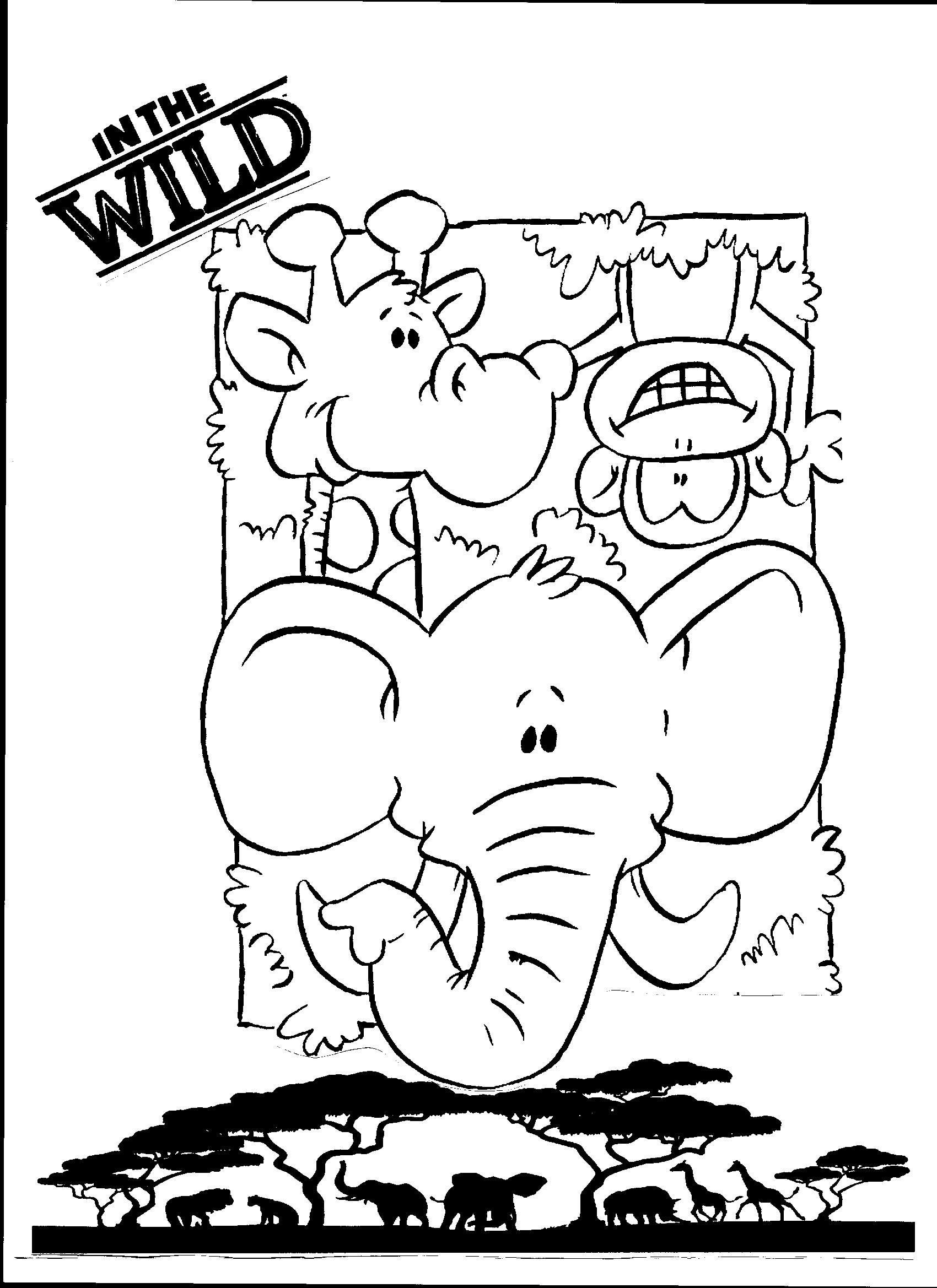 In the Wild VBS 2019 coloring page, great to use during