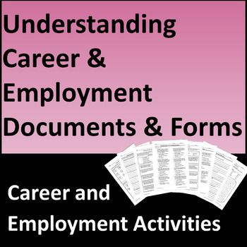career and employment document activities help students explore the purpose and importance of the w