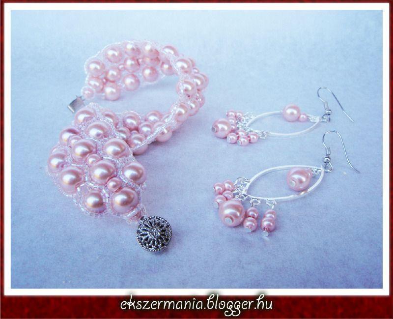 Rózsaszín tekla szett - ÉKSZERMÁNIA