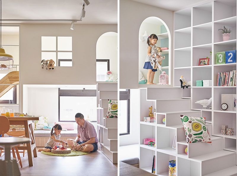This Fun-Filled Apartment Has A Lofted Play Space And Slide