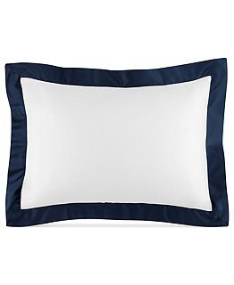 Ralph Lauren Langdon Border Collection, Polo Navy - I like the clean simplicity of these pretty shams
