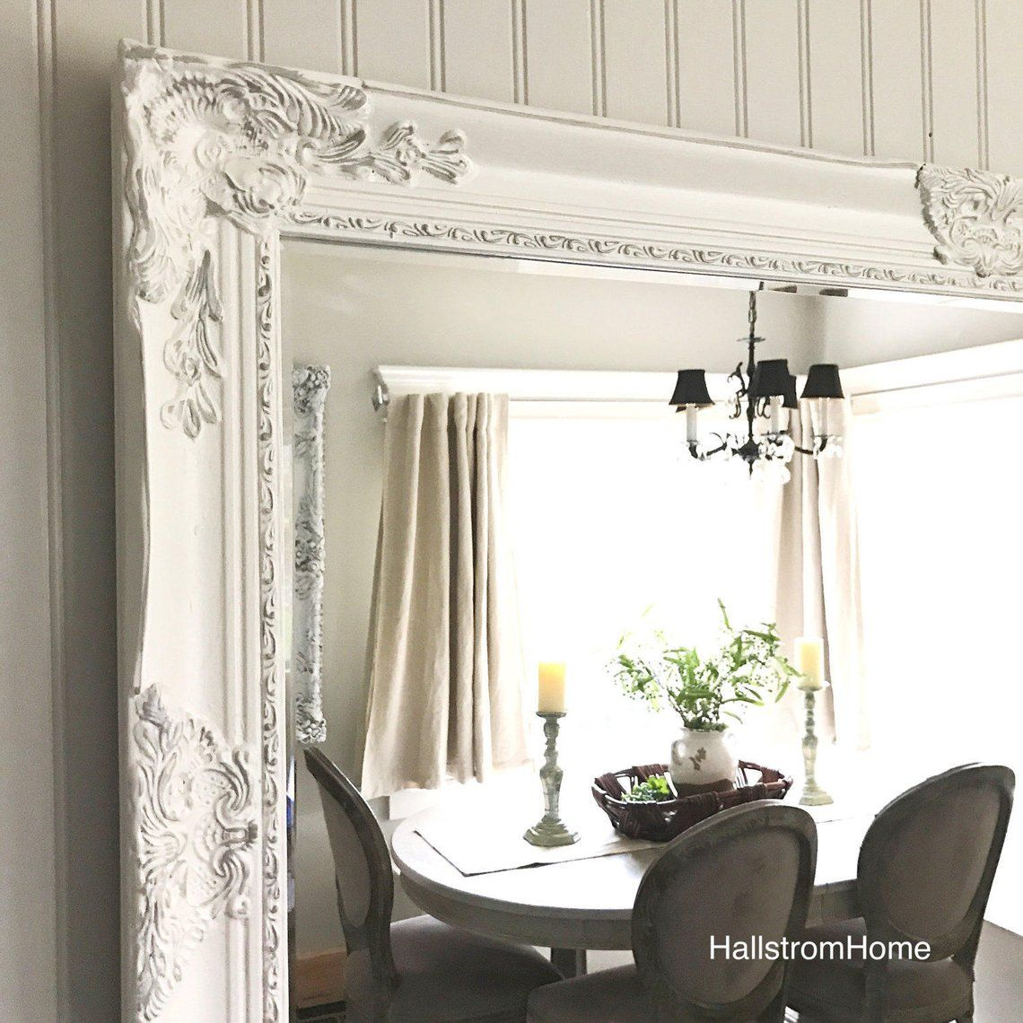 Farmhouse mirror large shabby chic decor bathroom mirror