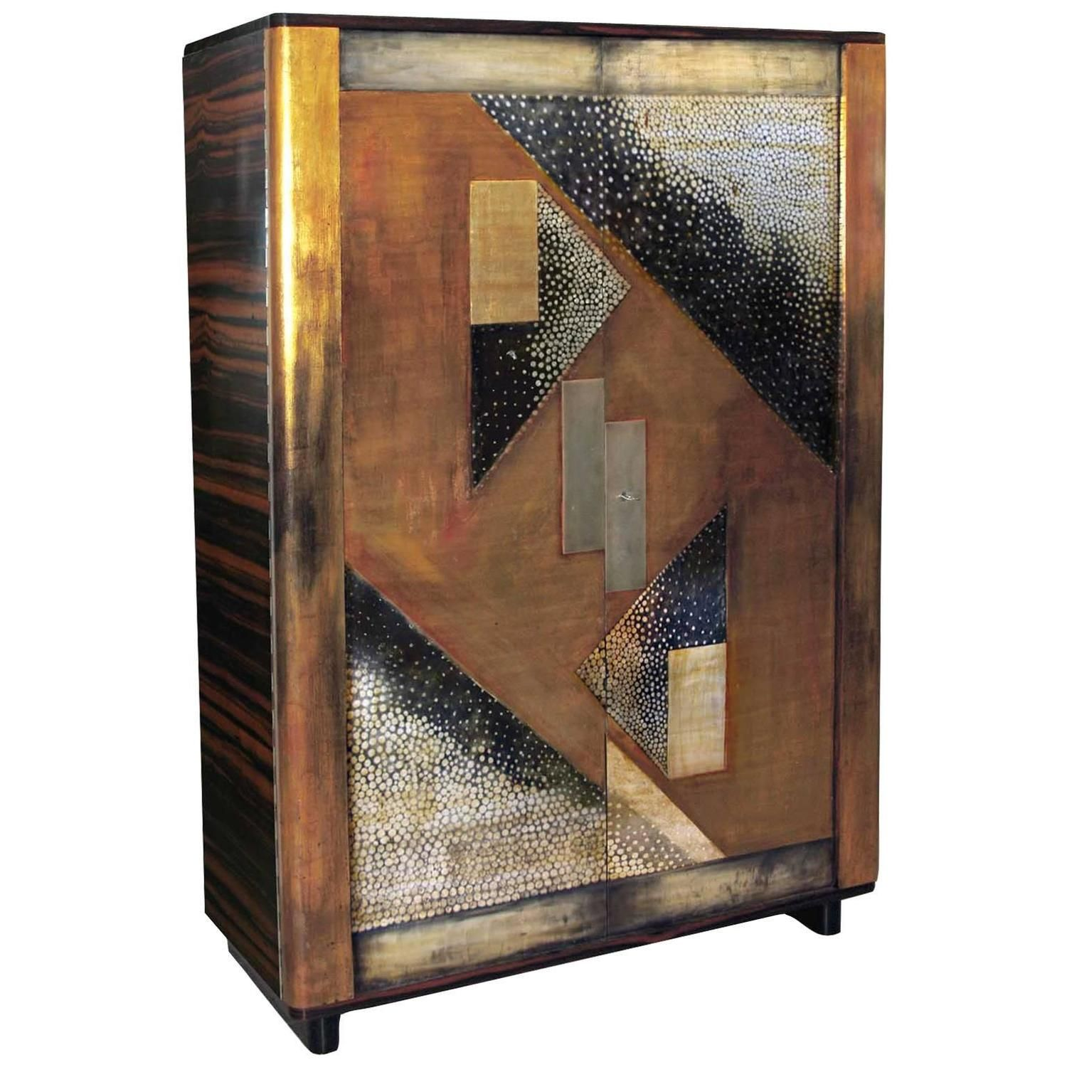 French Art Deco Cabinet Attributed to Jean Dunand Design Eugen