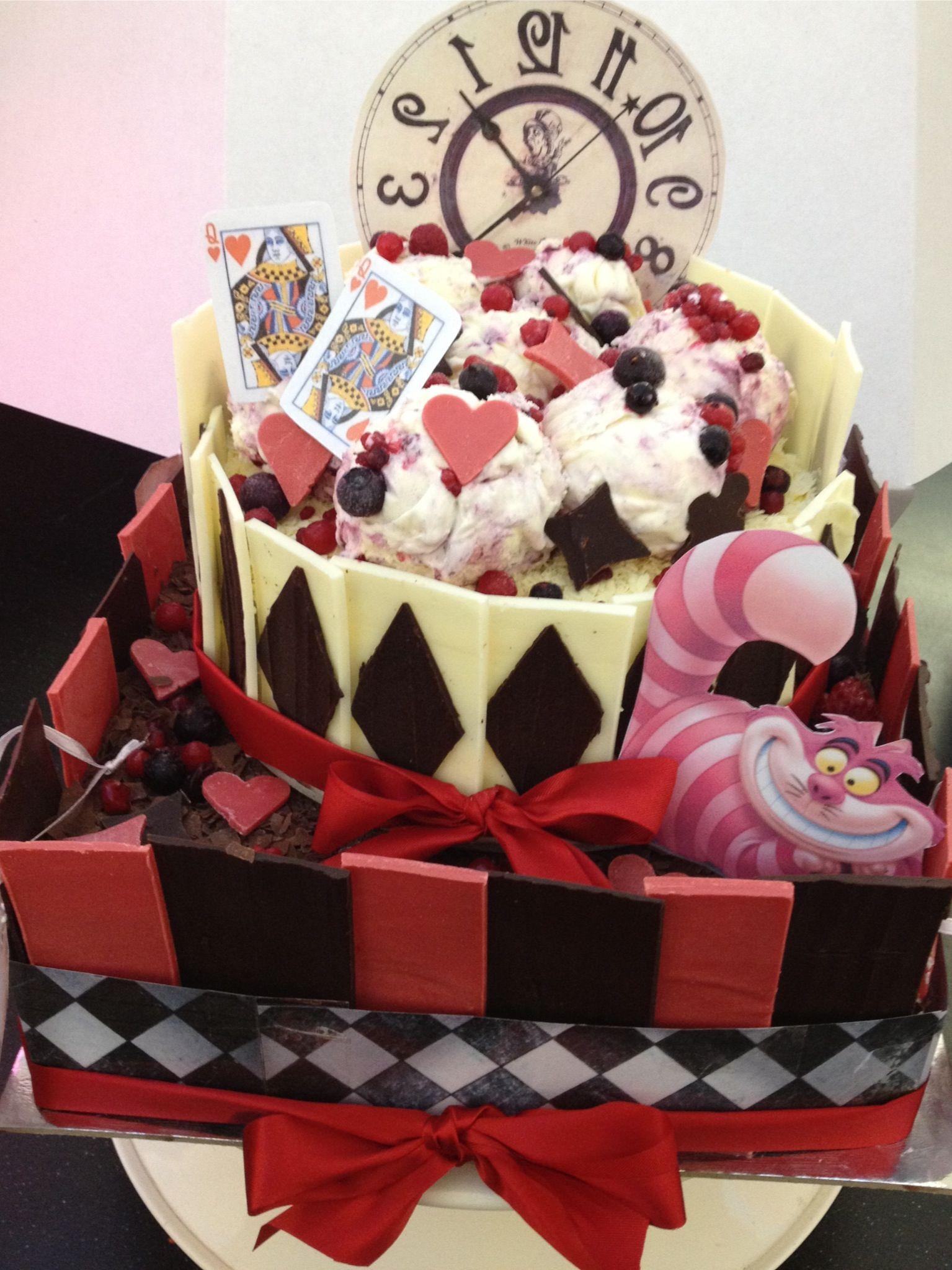 Alice in wonderland ice cream cake ice cream cake cake