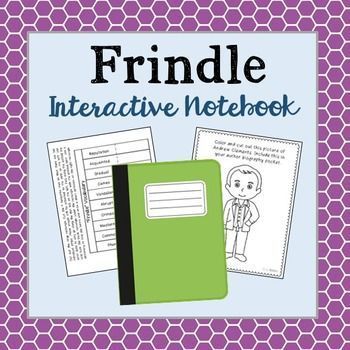Frindle Interactive Notebook Novel Unit Study Activities, Book