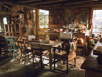 Harry Potter Movie Interior The Burrow Kitchen With Images