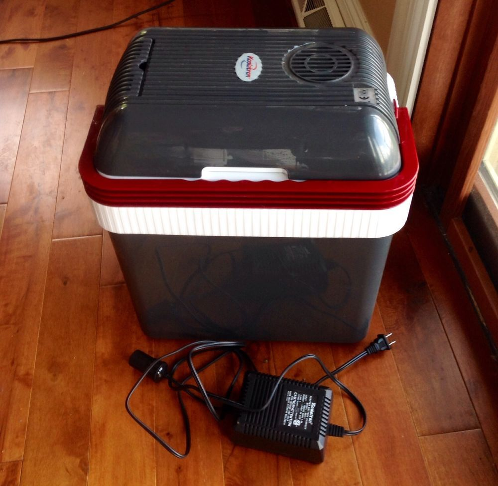 Electric portable beverage cooler 32 can thermoelectric