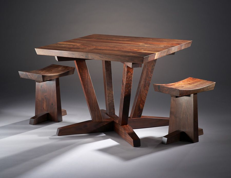 Enjoyable Three Square Table And Stools Decor Woodworking Bench Caraccident5 Cool Chair Designs And Ideas Caraccident5Info